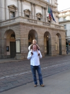 Stephane and Alma outside La Scala