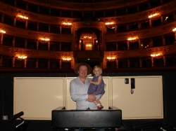 Stephane and Alma in La Scala pit