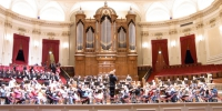 rehearsing in the Concertgebouw, Amsterdam