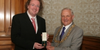 With Bob Winter, Lord Provost of Glasgow